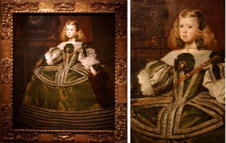 Juan Batista Martínez del Mazo Portrait of the Infanta Margarita Teresa composite
